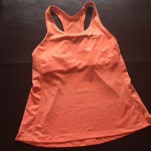 Nike Orange Dri Fit Mesh Back Tank